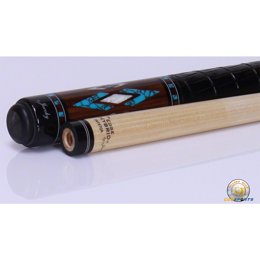 Jacoby HB5 Birdseye Maple Turquoise Poolbillard Queue