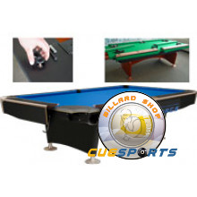 Pool table assembly up to 9 feet