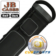 JB Ultimate Rugged Black - Grey 3x4 Pool Cue Case