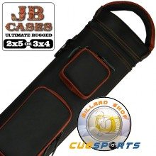 JB Ultimate Rugged Black - Copper 3x4 Pool Cue Case
