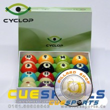 Billardkugeln - Cyclop ZEUS TV Edition Pool Ball set + Power Rack