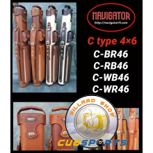 Navigator 4/6 Leather Cue Case brown