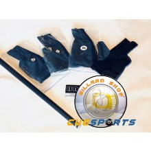 Billiard Glove, United, Right hand, black-grey, Size L